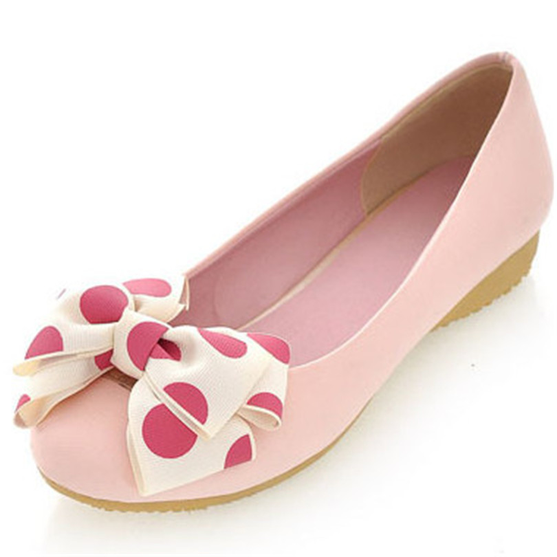 ENMAYER new women flats solid round toe ballerina flats bowtie spring or autumn size 34-39 five colors women shoes for ladies<br><br>Aliexpress