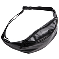 Solid black waist bags leather belt bag Zohra 2016 Fashion New molle pouch women running belt