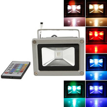 USA Delivery Colorful 10w RGB LED Flood Light Landscape Lamp + Remote Control (China (Mainland))