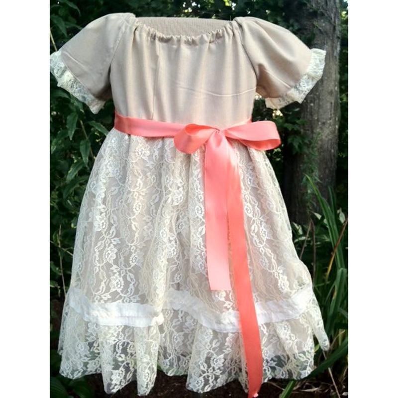 Flower girl dresses burlap wedding sash flower girl for Country wedding flower girl dresses