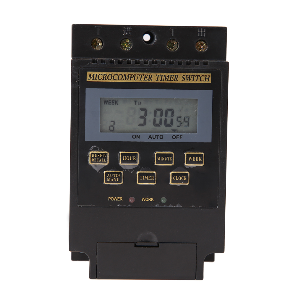KG316T-II AC220V 25A Din Rail LCD Digital Programmable Electronic Timer Switch Digital Timer Controller KG316T CE Sign(China (Mainland))