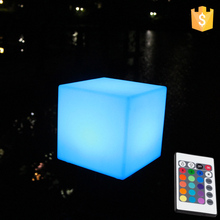 Waterproof 16color change LED Cube factory 20*20*20cm led cube children chair free shipping 10pcs/Lot