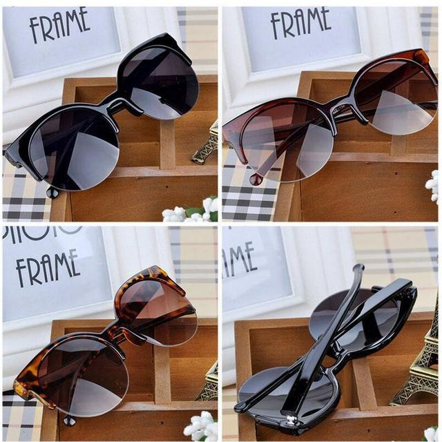 Cat Eye Semi-Rimless Women's Sunglasses