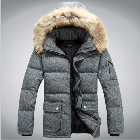 Winter Duck Down Jacket Men Fashion Good Quality Outdoors Thicking Mens Parka Jackets With Big Fur Hood Casaco Masculino