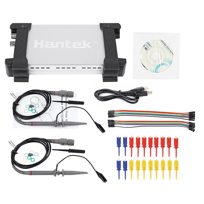 Free shipping Hantek 6022BL PC Based USB handheld Digital Portable Oscilloscope + 16 Logic channel Logic Analyzer Wholesale(China (Mainland))