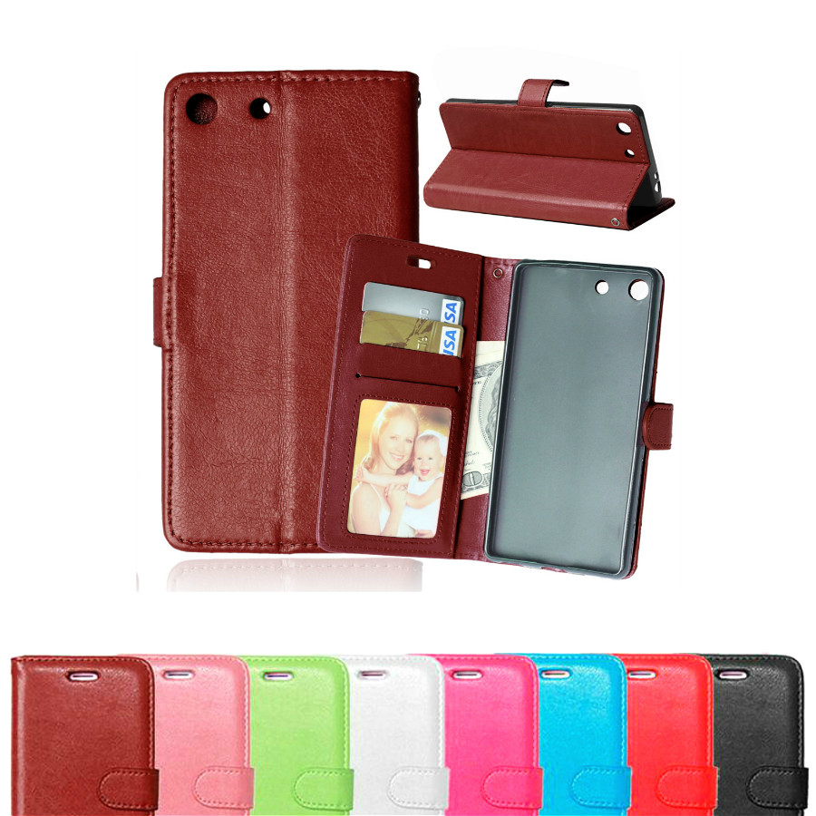 Newest For Sony M5 Luxury Wallet Flip PU Leather Case Cover For Sony Xperia M5 Ultra Dual Cell Phone Back Cover With Card Holder(China (Mainland))