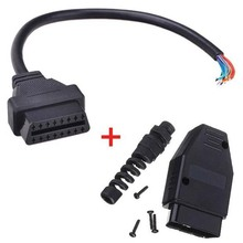 Universal OBD2 (M+F) Male + 16 Pin Female Open Extension Connector Cable Assembly OBD 2 OBD II Diagnose Adaptor J1962 Free Ship