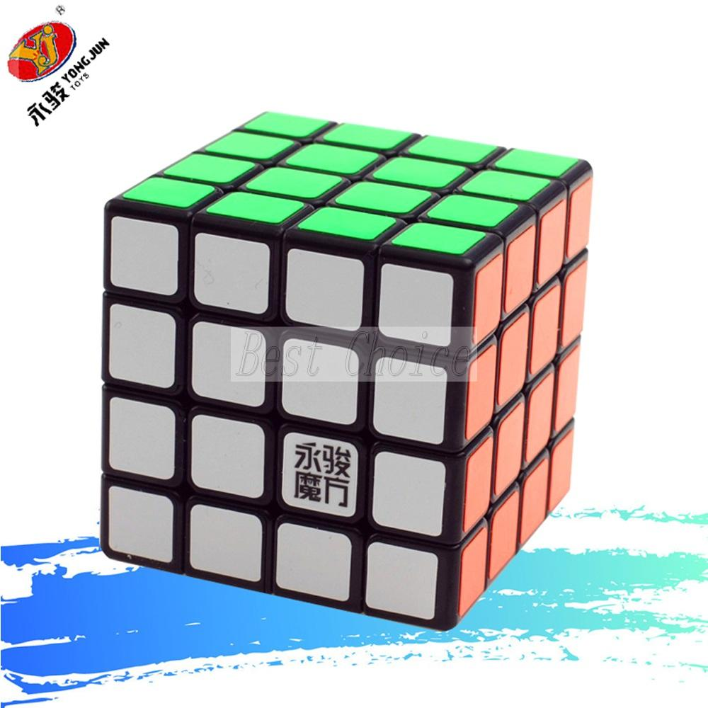 Newest YongJun GuanSu 4x4x4 Magic Cube 62mm Puzzle Cubes Professional Cubo kubik cubo magico kub Toys Gift(China (Mainland))