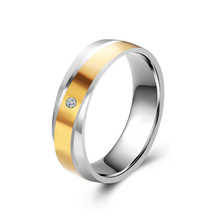 Buy 6mm Width Mens Jewelry Stainless Steel 2 Tone Wedding Smooth Band Ring Size 8 11 Lovers Ring for $1.00 in AliExpress store