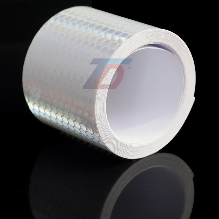 В продаже 5 см x 5 м белая стрелка квадраты марк безопасности светоотражающие ленты наклейки стайлинга автомобилей самоклеящиеся предупреждение ленты высокое видимость