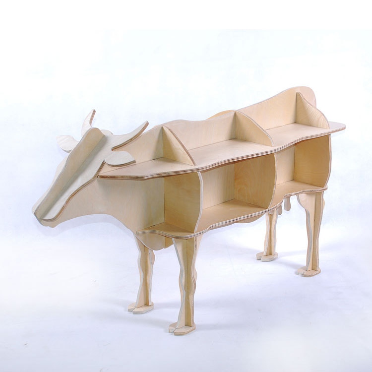 Other Solid Wood Coffee Table Console Table Side Cow Animal Shaped Window Display Racks Home