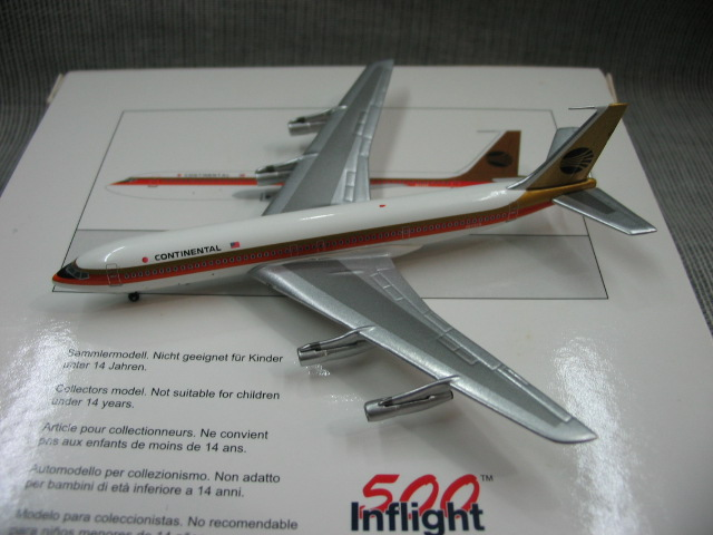 Value Out of print IF 500 1: 500 Continental Airlines Boeing 707-300 Alloy aircraft model N17328 Collection model Holiday gifts(China (Mainland))