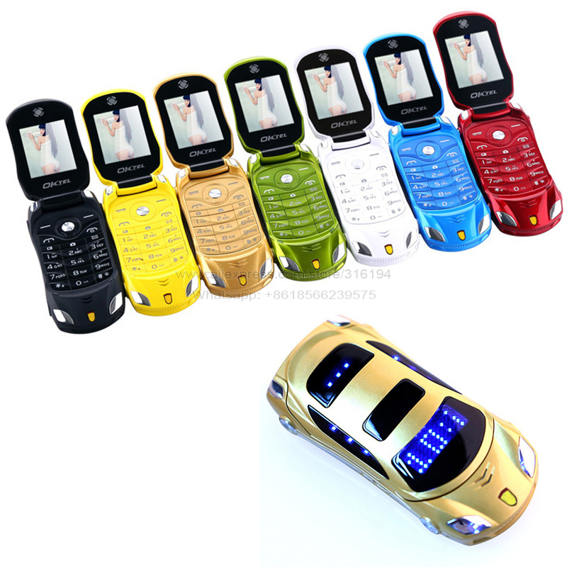 2015 unlocked Russian keyboard flashlight dual sim cards super car model mini mobile cell phone F15 P431(China (Mainland))