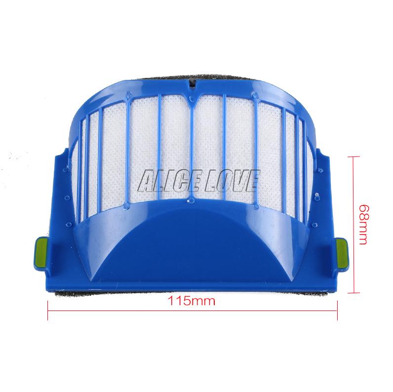 6pcs hepa filter suitable for ROOMBA IROBOT 500 600 SERIES AEROVAC FILTER 528 536 551 552 564 580 595 620 630 650(China (Mainland))