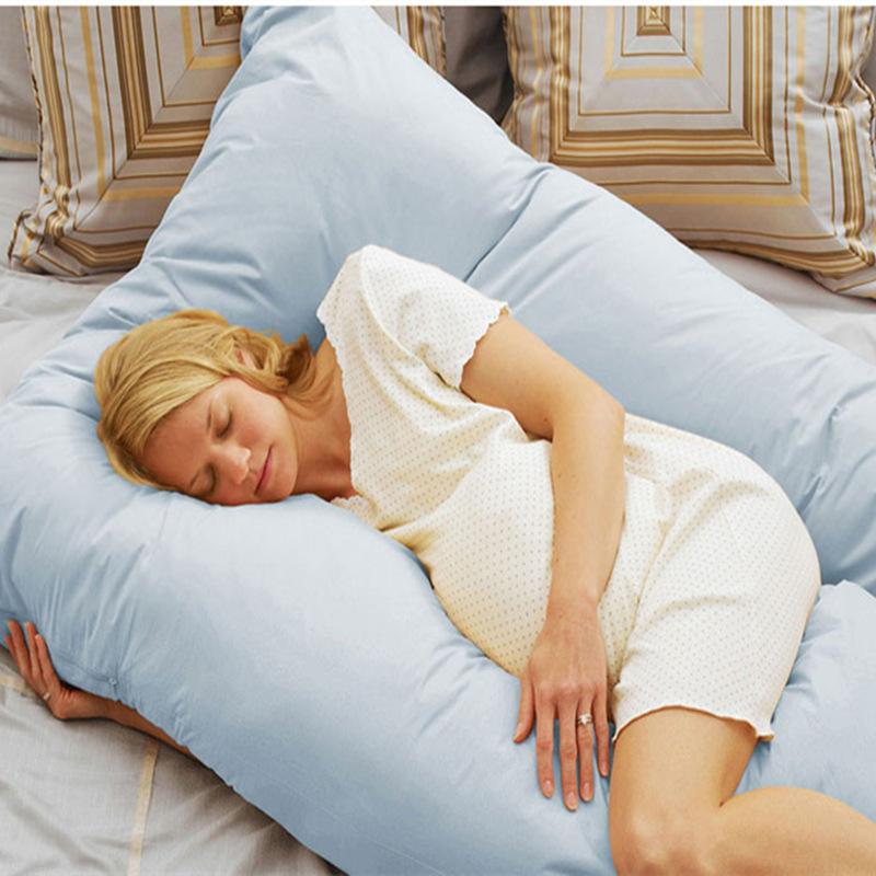 Multifunctional Pregnant Body Pillow Cotton U-Shape Pillow for Pregnant Women Breastfeeding Pillow Nursing Assist Waist Support