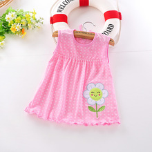 Baby Dress 2016 Hot Sales Princess Girls Dress 0-1years Cotton Clothing Baby Infant Summer Clothes(China (Mainland))