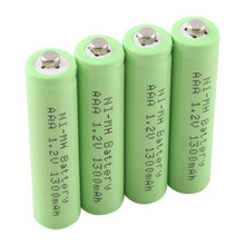 4 X Ni-MH AAA 1300mAh 1.2V Rechargeable 3A Neutral Battery ECOS #19545