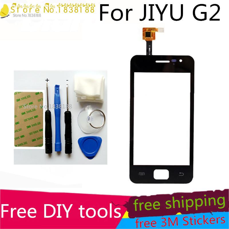 Free DIY Tools+Original New Touch Screen JIAYU G2 JY-G2Glass Capacitive sensor jiayu g2 touch screen digitizer Black(China (Mainland))