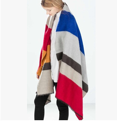 Z декабря 14-чемпионат новая зимняя заклинание - широкие полосы смешанное теплый платок шарфы супер мягкие и удобные