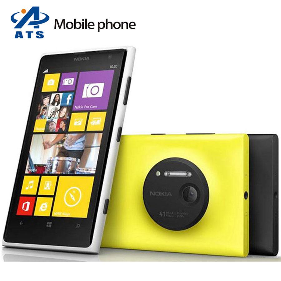 Nokia Lumia 1020 Mobile Phone Original lumia 1020 mobile phone 41.0MP Camra 32GB ROM 2G RAM Dual core GPS WIFI Free shipping(China (Mainland))