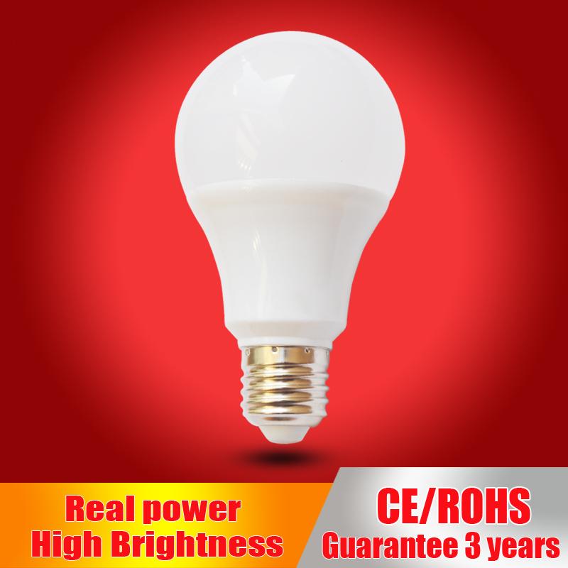 Real power Led Lamp E27 LED Bulb B22 110V 220V 230V led Light bulb 3W 5W 7W 9W 12W 15W SMD2835 lampadas led candle light(China (Mainland))