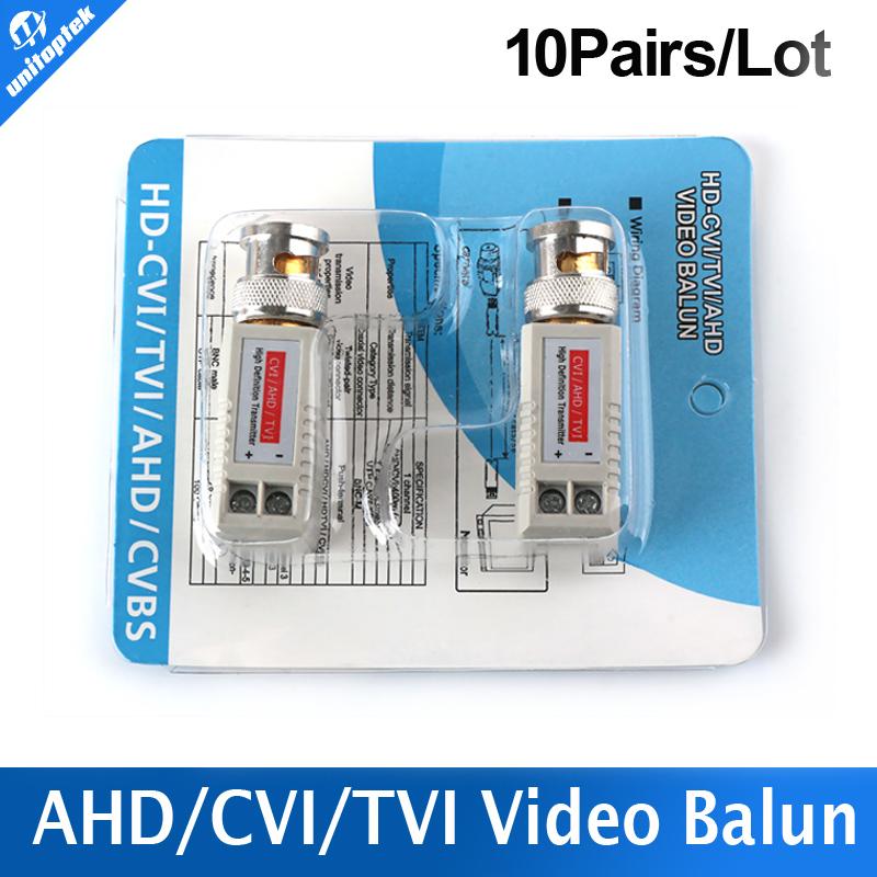 10Pairs Twisted BNC CCTV Video Balun Passive Transceiver Cat5 CCTV UTP 200M Range For HD 720P HDCVI/AHD/HDTVI Camera(China (Mainland))