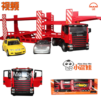 Double layer Large engineering car transport vehicle truck alloy car model ,toy car,free shipping