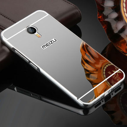Luxury Aluminum Metal Mirror Case For Meizu M3 Note Meilan Note3 5.5inch Back Cover Brand New Ultra Thin Mobile Phone Case(China (Mainland))