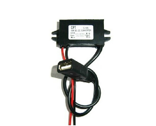 12 v to 5 v USB car step-down module GPS vehicle traveling data recorder power supply(China (Mainland))