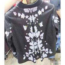 Women Genuine Leather Jackets and Coats Autumn Outerwear Flower Print/Beading/Black/Slim/Sheepskin LW9063(China (Mainland))