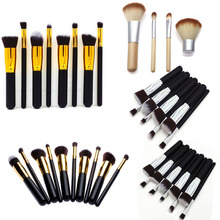 #F9s New Pro MakeUp Pro Women Cosmetic Brushes Set Powder Eyeshadow Foundation Face Blushes New Makeup Beauty Kits Tools