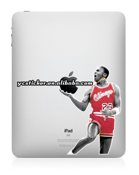 Free Shipping 2013 Hot Sell Creative Decal Jordan Stickers for iPad Sticker Decal for iPad Mini Decal Sticker