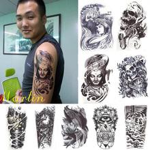 12 Styles 3D Waterproof Body Arm Leg Art Tattoo Sticker Handsome Tatouage Glitter Black Temporary Tattoos