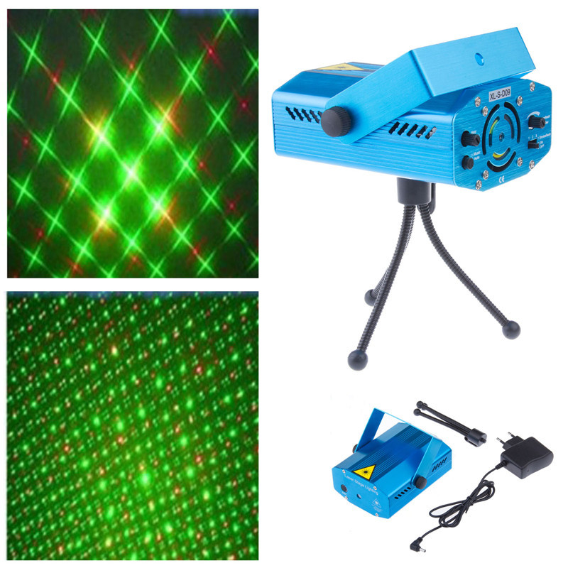 Blue Mini LED Laser Projector Red and Green Laser Stage Light Laser Lighting For Disco Party DJ Bar Club With EU US UK AU Plug(China (Mainland))