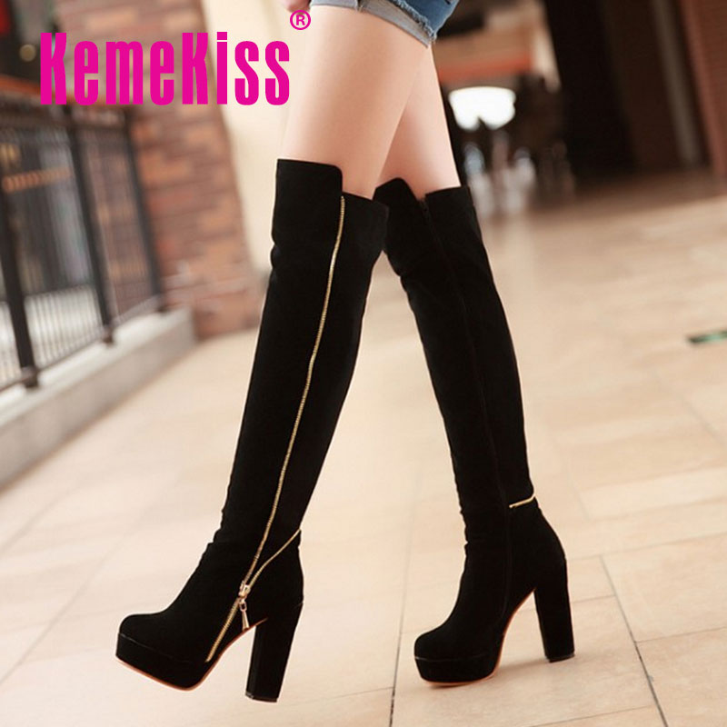 CooLcept Free Shipping over knee half high heel boots women snow fashion winter warm boot footwear shoes P10318 EUR size 34-43<br><br>Aliexpress