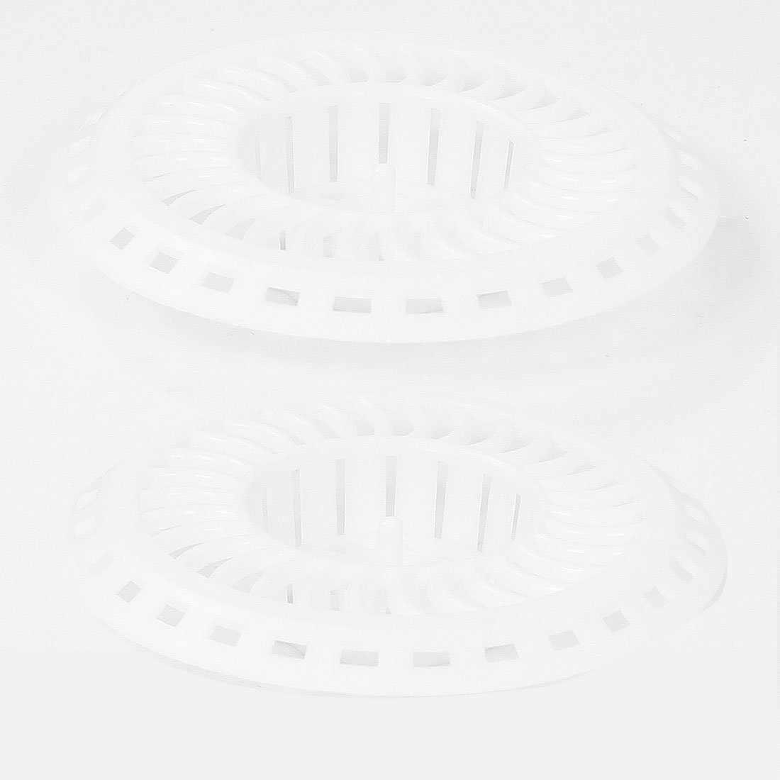 Kitchen 8cm Diameter White Plastic Sink Strainer Drain Stopper 2pcs<br><br>Aliexpress