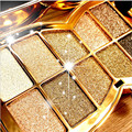 Hot 2016 Korea Hot 10 Color Professional Beauty Eye shadow Diamond Shining Eye Shadow Waterproof Smoked