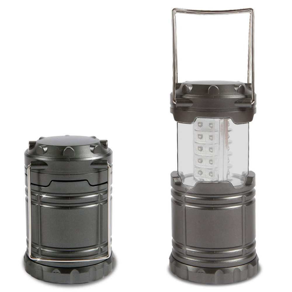 90% OFF Black/Gray Super Bright Lightweight 30 LED Camping Lantern Outdoor Portable Lights Water Resistant Camping Lighting Lamp(China (Mainland))