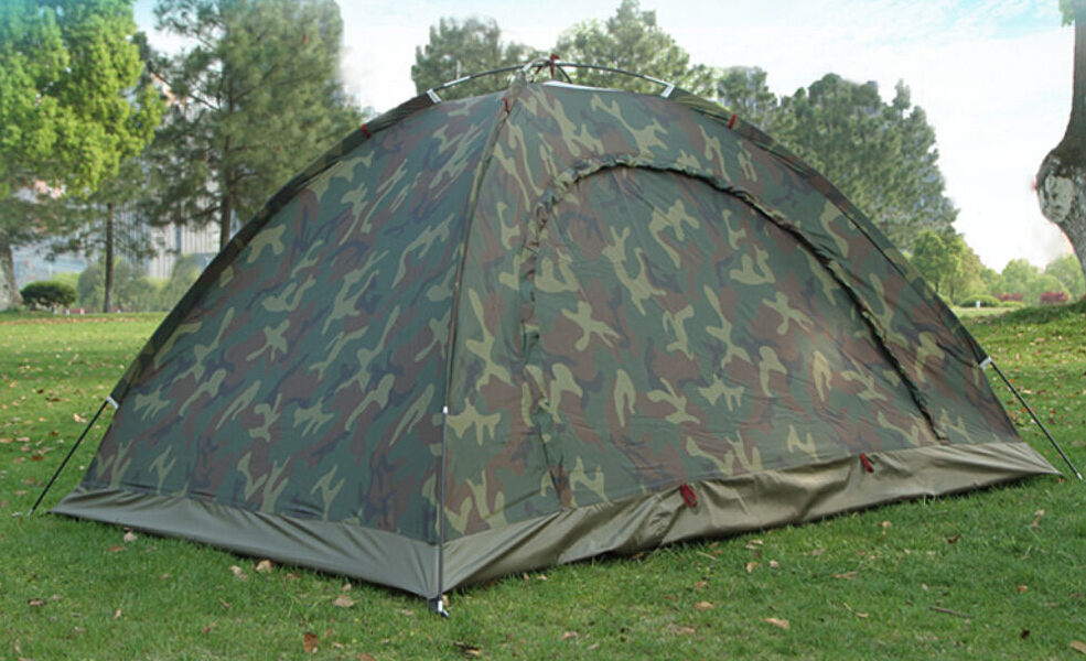 Camo Outdoor Camping Waterproof 2 Person 4 Season Folding Tent Camouflage Hiking(China (Mainland))