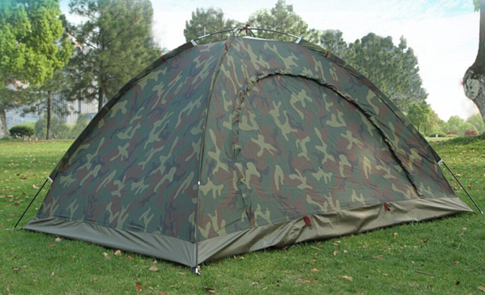 Camo Outdoor Camping Waterproof 2 Person 4 Season Folding Tent Camouflage Hiking(China (Mainland))
