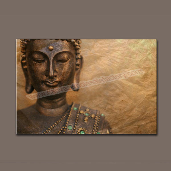 Wholesale Home Decor Canvas Art Print Large Unframed Buddha Painting Canvas Prints Picture Oil