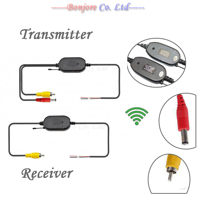 2.4G Wireless transmitter and receiver for Car Reverse Rear View backup Camera and Monitor Parking Assistance(China (Mainland))