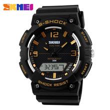 2015 nueva Skmei 1057 relojes LED Digital de cuarzo reloj militar resistente al agua Dual hora de alarma reloj para los deportes