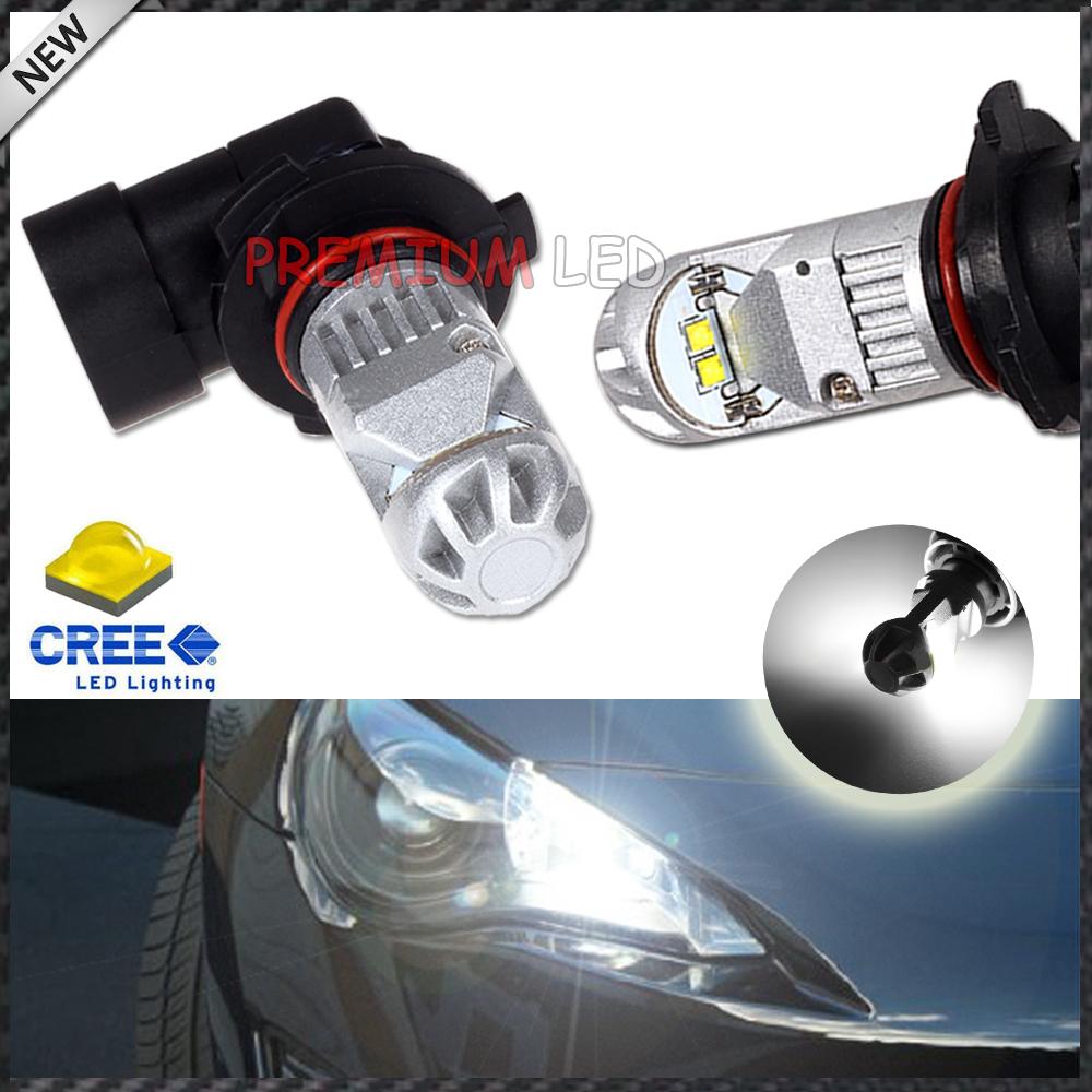 2pcs Super Bright 6000K Xenon White CREE XB-D 9005 HB3 H10 LED Bulbs:car High Beam/Daytime Running Lights/Fog Lamps