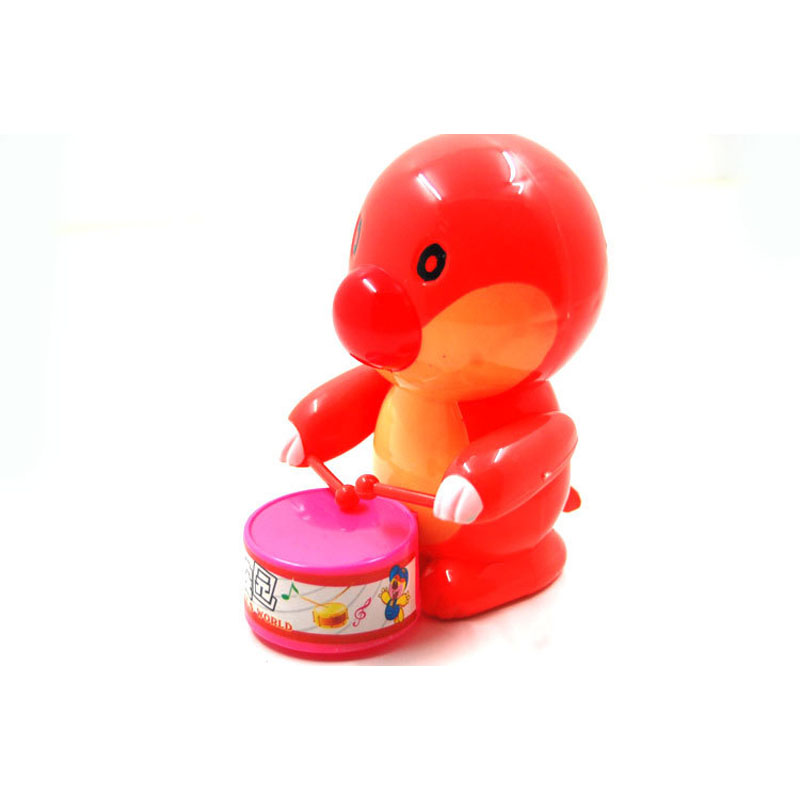 Cute mole to drum noise maker Toy kids tin Wind Up Toys For Children Boys Educational Random Color Free Shipping(China (Mainland))