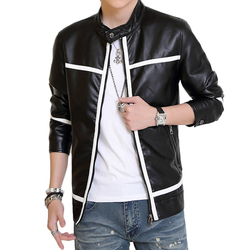 2013 New Fashion Mens Leather Jacket Pu Leather Jacket For Men | Male Models Picture