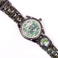 1pc Hot Sale Multicam Outdoor Camping Travel Kit Watch With Survival Flint Fire Starter Paracord Compass
