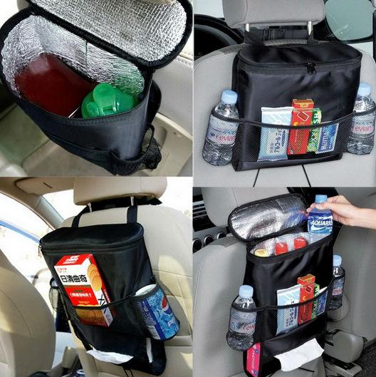 News car cooler bag seat organizer Multi Pocket Arrangement Bag Back Seat Chair Car Styling(China (Mainland))