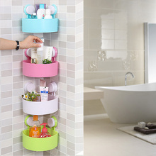 Buy Multifunctional Plastic Strong Suction Cup Wall Corner Shelf Rack Kitchen Bathroom Toilet Corner Holder Strong Tripod Corner for $11.39 in AliExpress store