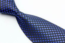 NT0060 Blue Black Dot Smooth Multicolor Jacquard Woven Classic Type Silk Polyester Man s Business Wedding